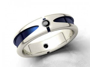 Male Rings Silver And Black