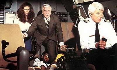 Airplane Movie Leslie Nelson Girl Scout Fight