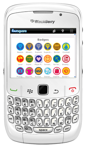 foursquare blackberry Foursquare 1.5 para BlackBerry