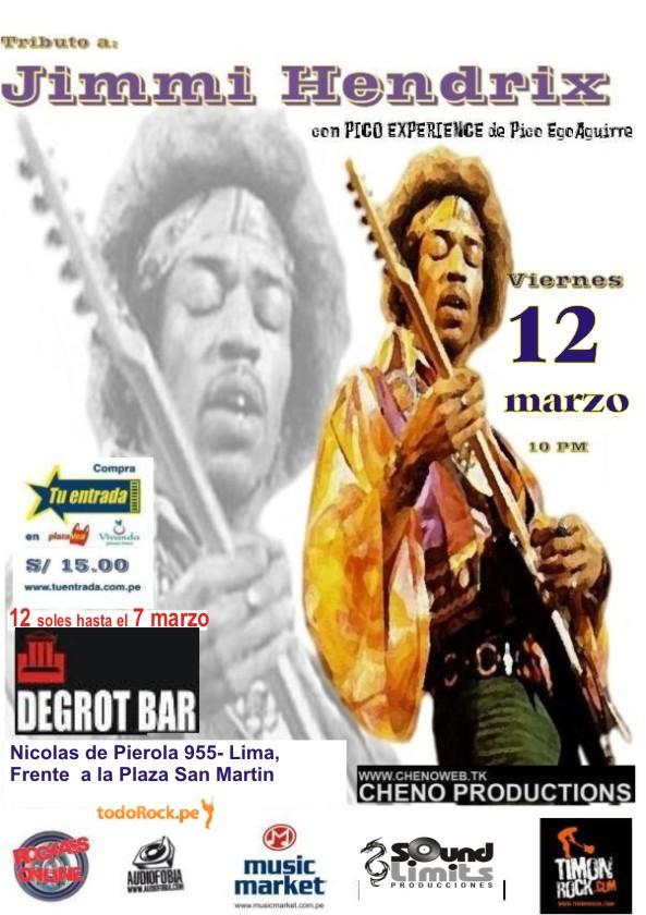 Tributo A Jimmy Hendrix En Lima Este 12 De Marzo