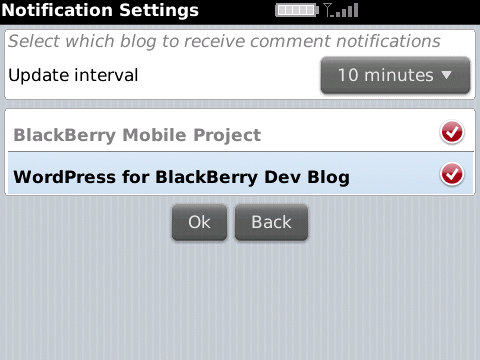wordpress blackberry WordPress para BlackBerry 1.1