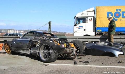 Pagani C9 accidentado