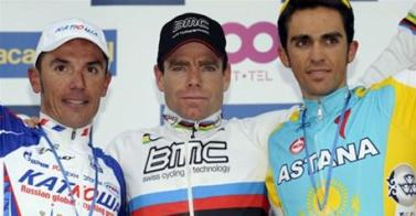 Fleche Wallonne Cadel Evans with Rodriguez and Contador - 0