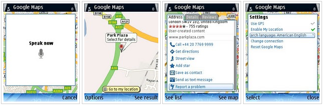 google maps nokia wm Google Maps 4.1 para Nokia y Windows Mobile