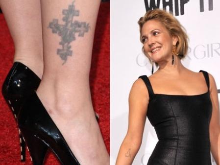 tatuaje en el tobillo. La exitosa actriz tiene un tatuaje en su tobillo derecho que revela una cruz