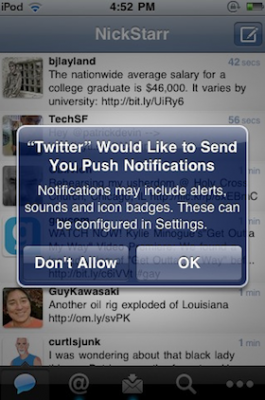 twpu 265x400 Twitter añade Push Notifications a su aplicación de iPhone
