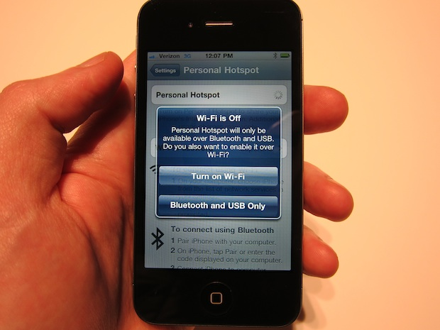 iPhone 4 WiFi Personal Hotspot en iPhone 4 CDMA