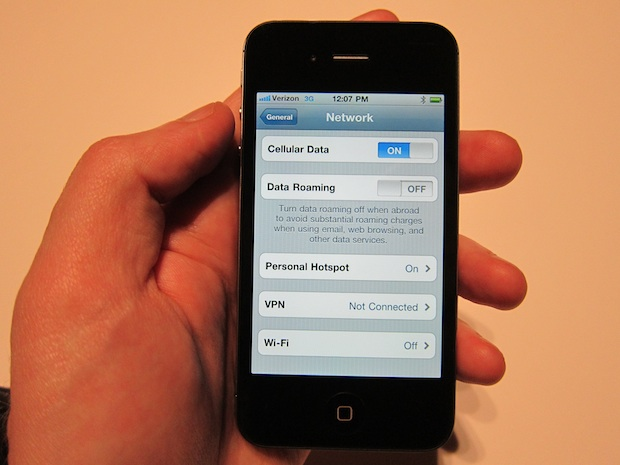 iPhone 4 consumo datos Personal Hotspot en iPhone 4 CDMA