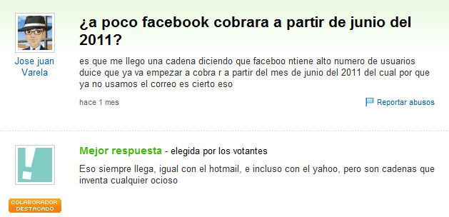facebook no cobrara