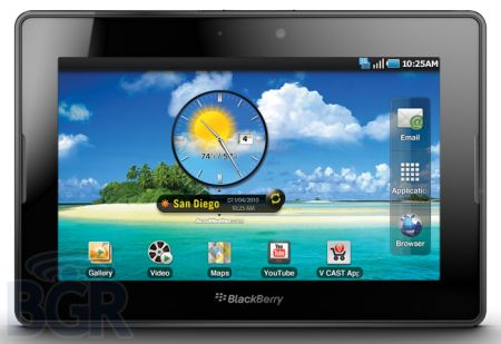 blackberry playbook android BlackBerry Playbook podría correr aplicaciones Android