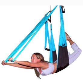 Anti Gravity Yoga Inversion Swing Totally Blue Practicar antigravity está de moda