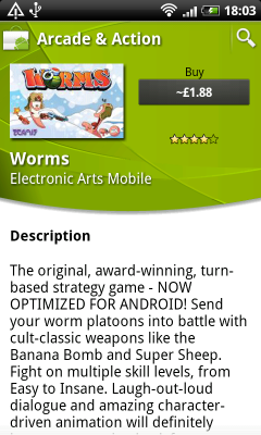 worms android market 2 240x400 EA Games publica Worms en Android