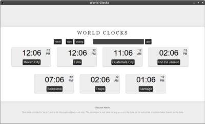 Reloj mundial google