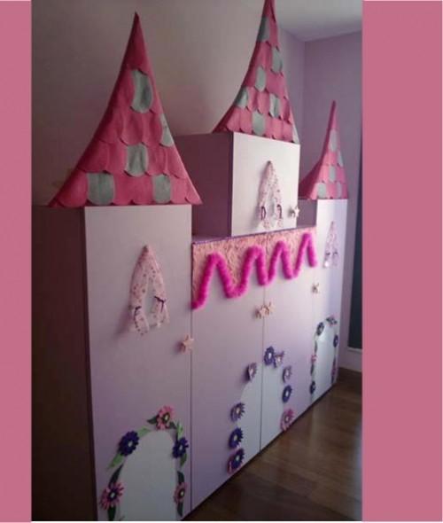 Muebles infantiles transformados en un castillo medieval for Muebles infantiles en uruguay