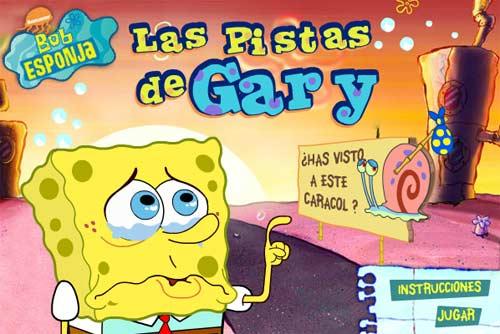 Juegos de Bob Esponja con Gary