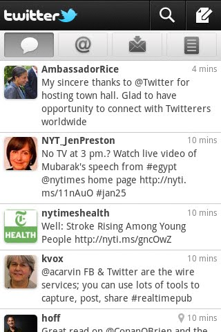 android screenshot 1b Twitter 2.0 oficial para Android