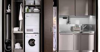 Cocinas que aparecen por arte de magia en espacios peque os for Cocinas en espacios reducidos
