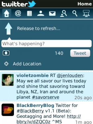 BlackBerry twitter 1.1