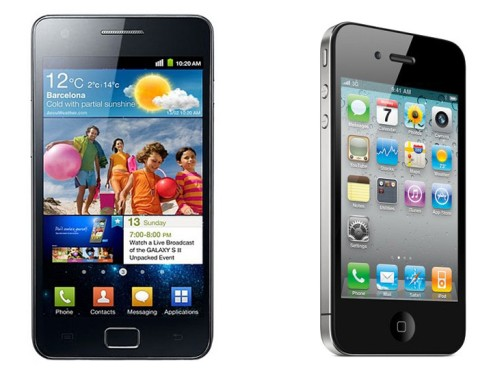 galaxys2vsiphone4 Samsung Galaxy S II vs iPhone 4