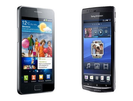 galaxy s2 vs xperia arc Samsung Galaxy S II vs Sony Ericsson Xperia Arc
