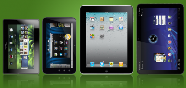 Tablets Guerra de Tablets: BlackBerry PlayBook vs Dell Streak 7 vs iPad vs Motorola Xoom