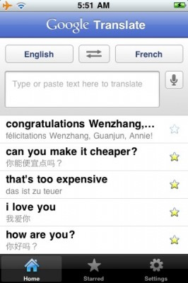 google traductor iphone