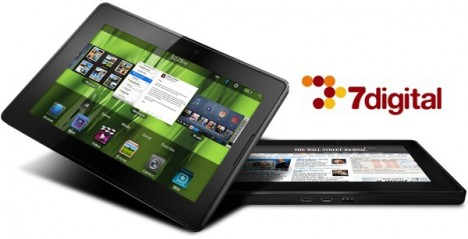 PlayBook 7Digital 468x239 BlackBerry PlayBook con Music Store