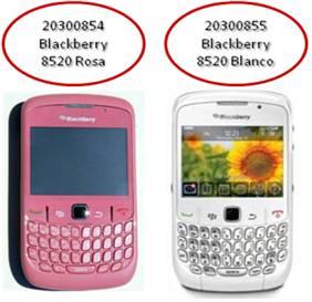 later super cheap new arrival Nuevos colores de Blackberry Curve 8520: rosa y blanco