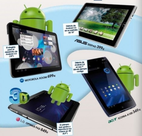 phonehouse tablet pricing 540x515 468x446 Motorola Xoom, LG Optimus Pad, Asus Eee Pad y Acer Iconia en España