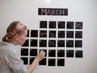 Calendario pizarra para la pared - Pizarra calendario ...