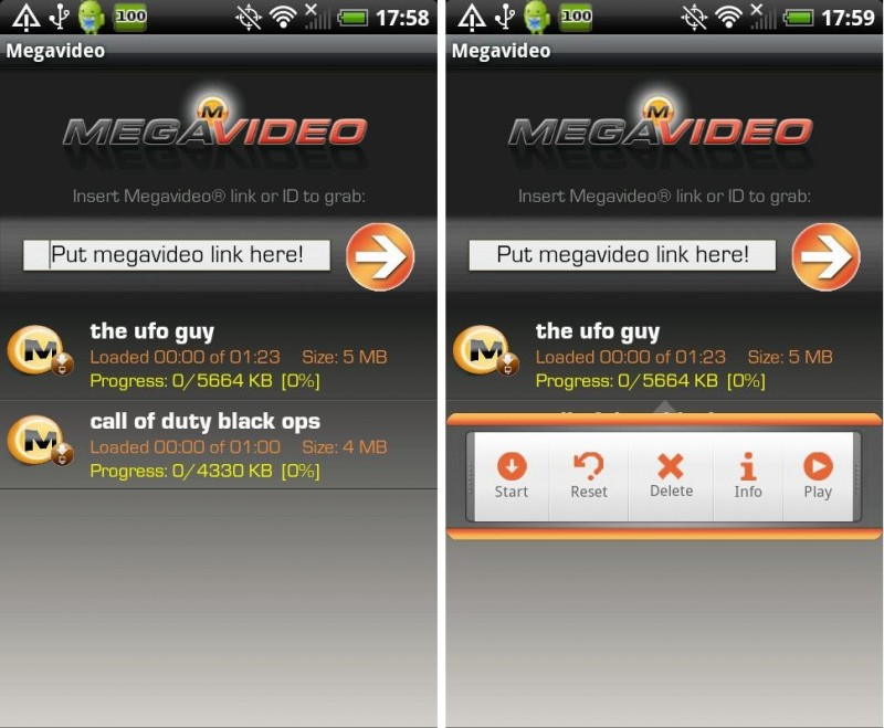 Megavideo Android