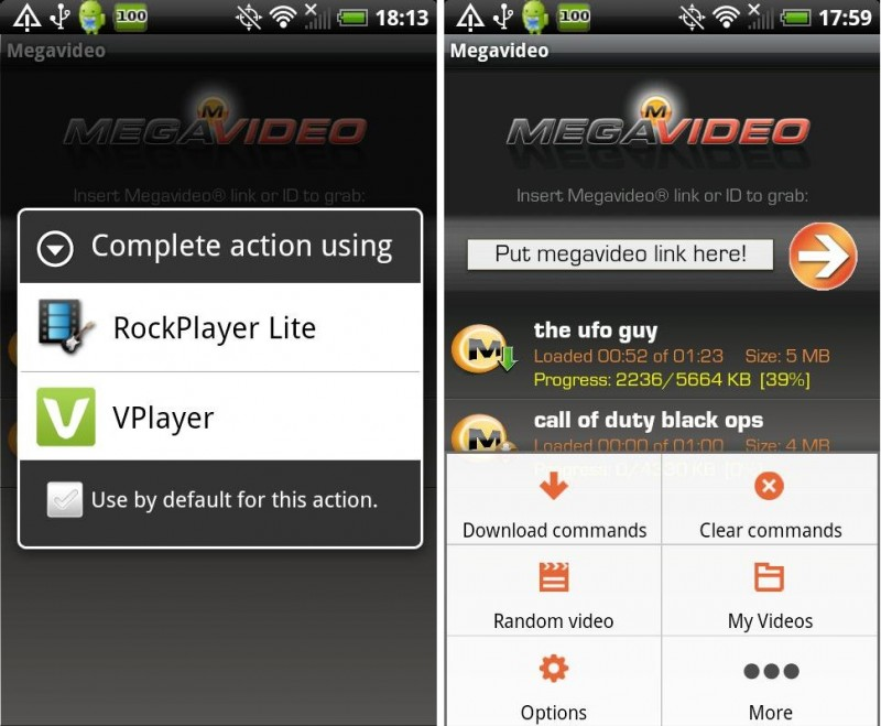 Megavideo Android 2