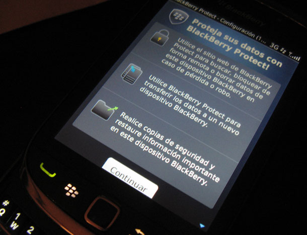 Blackberry protect Backups con Blackberry Protect: reseña