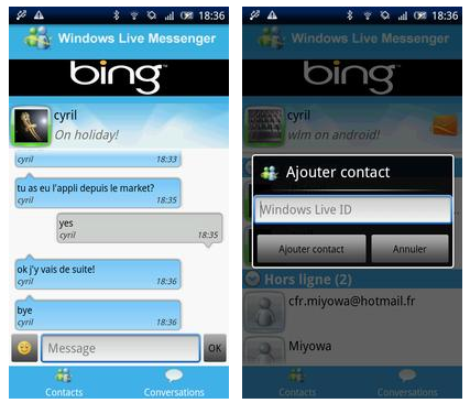 wlm android Windows Live Messenger oficial para Android se deja ver