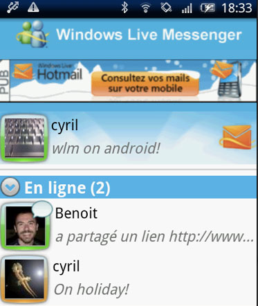 Windows Live Messenger para Android Muy pronto
