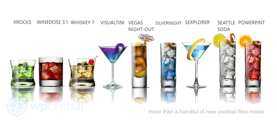 Cocktail flow app gratis para wp7 con tragos del mix 11 for Copas y vasos para bar