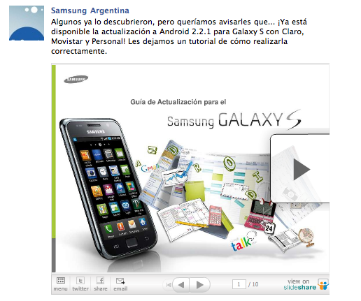 Screen shot 2011 04 20 at 2.04.11 PM Android 2.2.1 para Galaxy S en Argentina ya es oficial