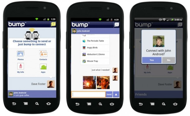 bump android 20 610x374 Bump 2.0 disponible en el Android Market