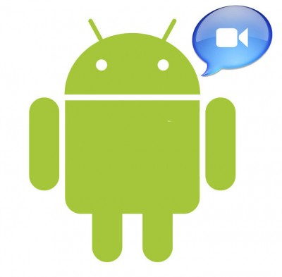 android videochat1 400x393 Google Talk con video para Android 2.3.4