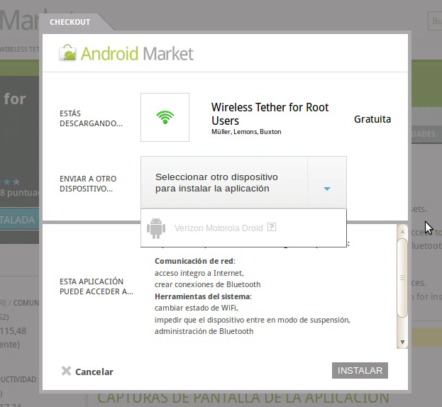 wireless tether ¿Google quiere eliminar las Apps para Tethering del Android Market?