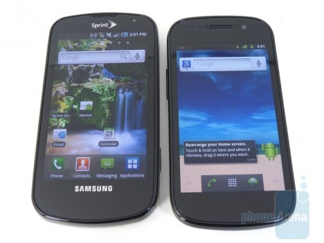 Google Nexus S vs Samsung Epic 4G Design 01 468x351 Google Nexus S vs Samsung Epic 4G