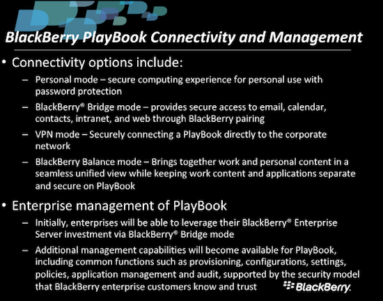 blackberry webcast slide 4 BlackBerry Bridge vs Internet Tethering