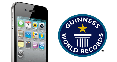 Guinness World Record iPhone 4 y App Store entran a los record Guinness