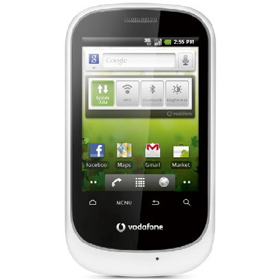 Vodafone 858 Android 22 announced Vodafone Smart, un Android 2.2 muy económico
