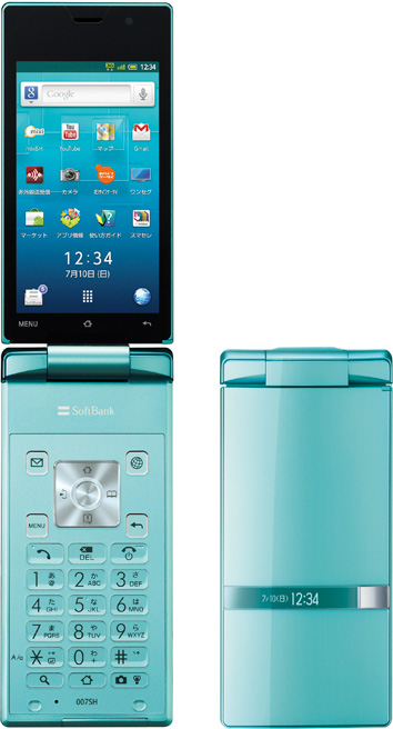 index pic 02 Sharp Aquos Phone Hybrid 007SH, un Android formato clamshell
