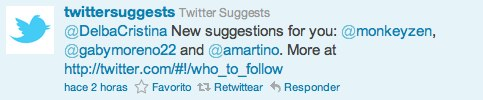 Twittersuggests Twitter Suggests: más recomendaciones personalizadas