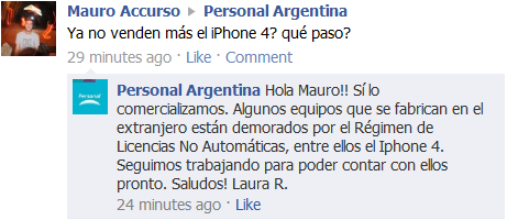 iPhone 4 Personal ¿Alguien vio un iPhone 4 en Argentina?