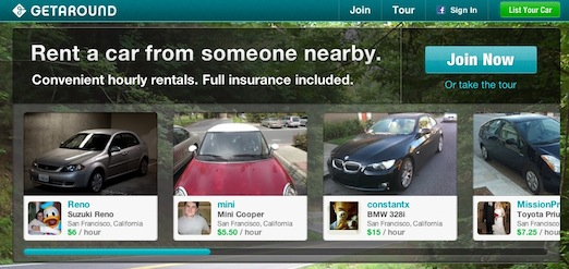Getaround Peer to peer car sharing and local car rental GetAround: un ZipCar a la AirBnB