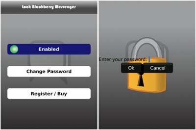 lock blackberry messenger 400x265 Proteger BlackBerry Messenger con contraseña