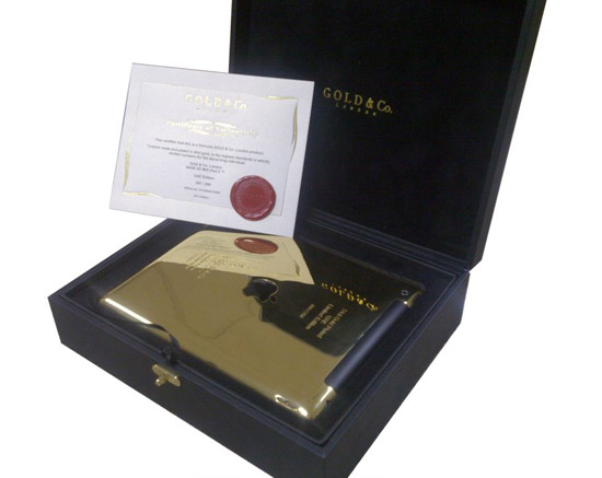 gold ipad box iPad 2 cubierto en oro de 24 quilates